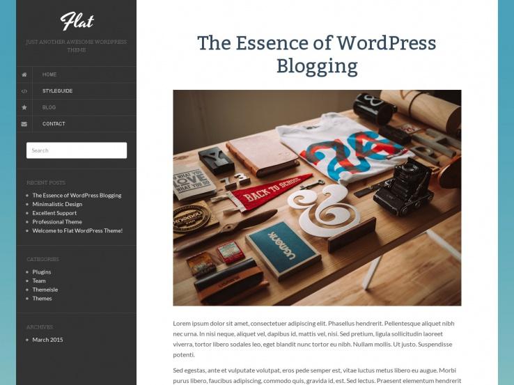 Flat - Free Flat WordPress Theme