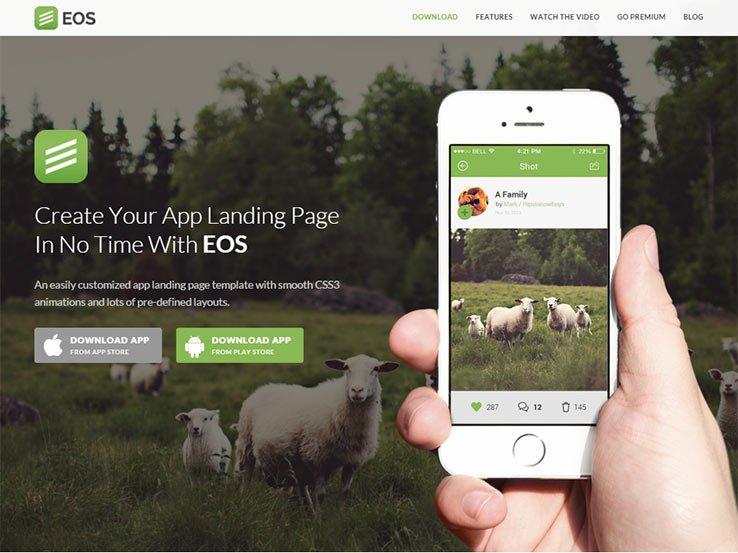 EOS - Responsive App Landing Theme