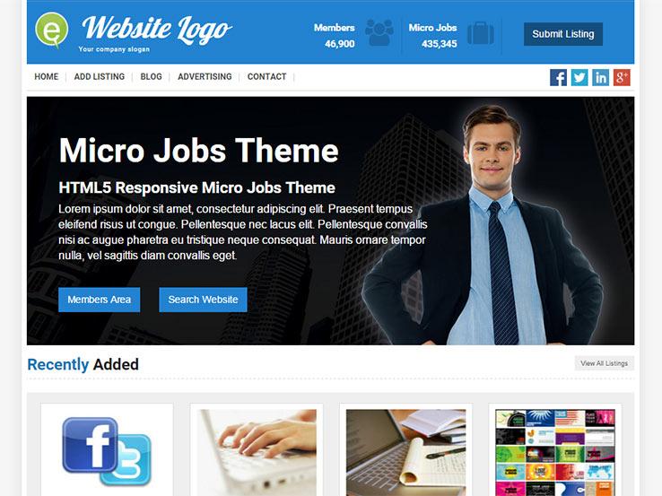 Responsive Micro Jobs Theme