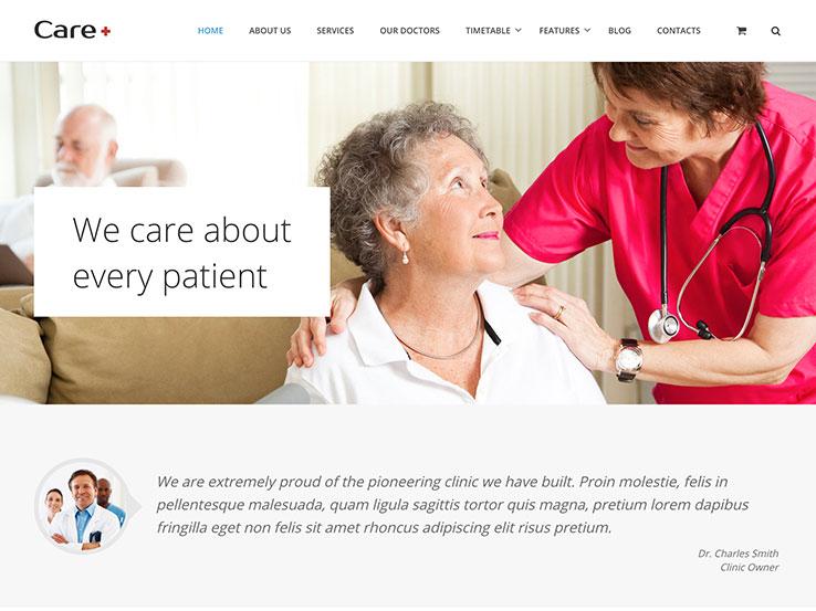 Care Health Blogging WordPress Theme