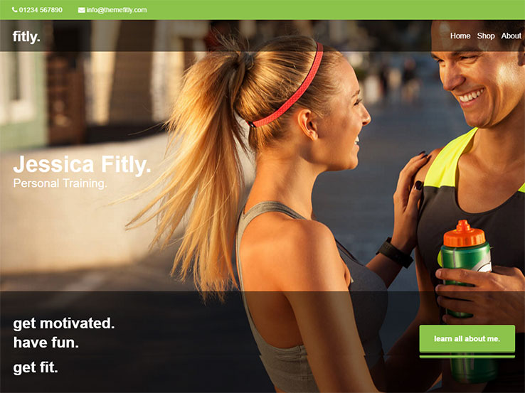 Fitly Personal Training Theme