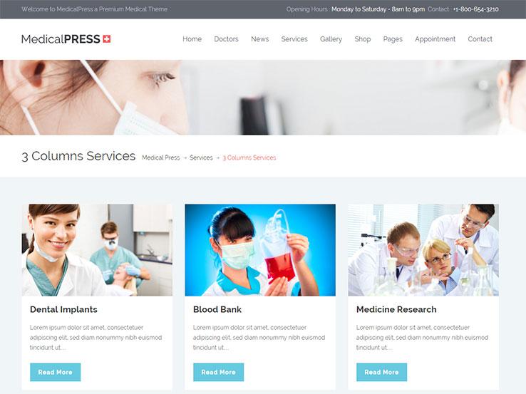 MedicalPress - Health and Wellness WordPress Theme