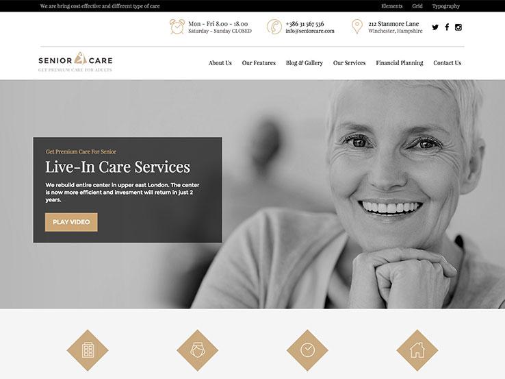 Senior   Health Care WordPress Theme