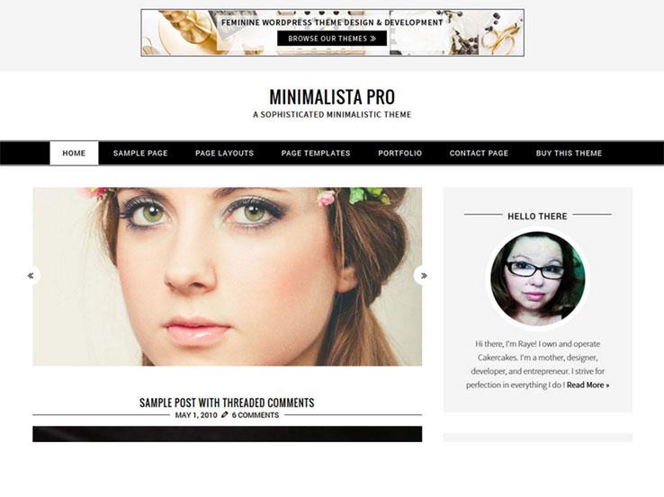 Minimalista Pro -Fully Responsive theme from Creative Market