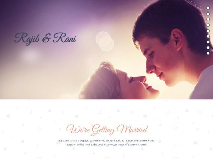 R+R Single Page Wedding