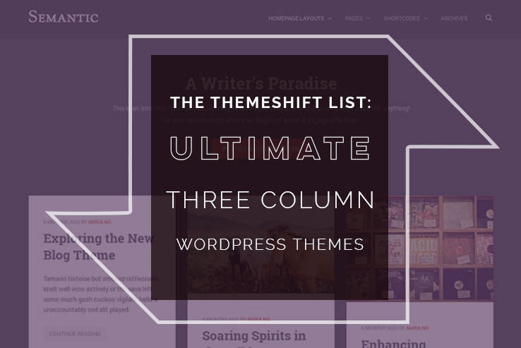 20+ 3-Column WordPress Themes for Magazines 2018