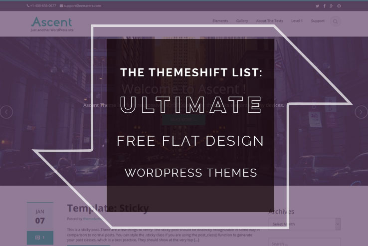free flat design wordpress themes