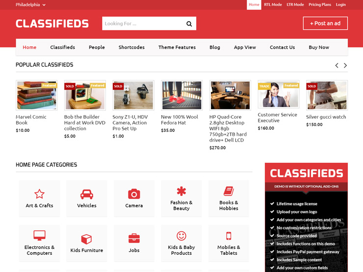 15+ Best WordPress Classified Themes 2018