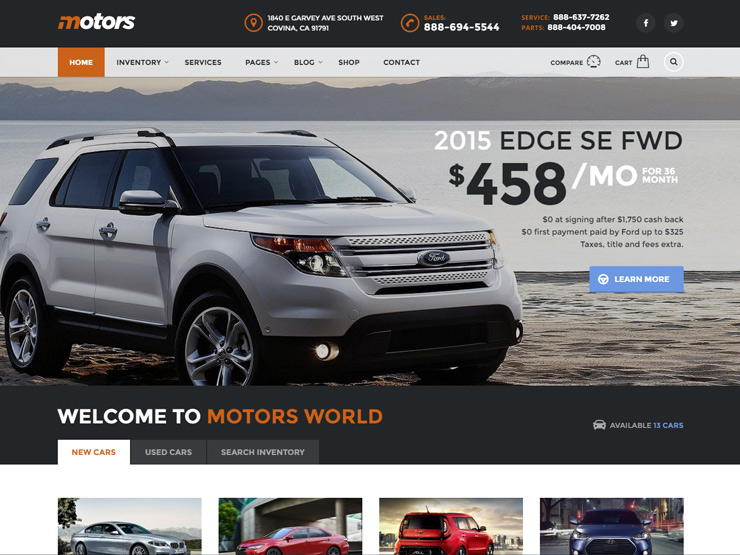 Motors - Automotive Classified Theme