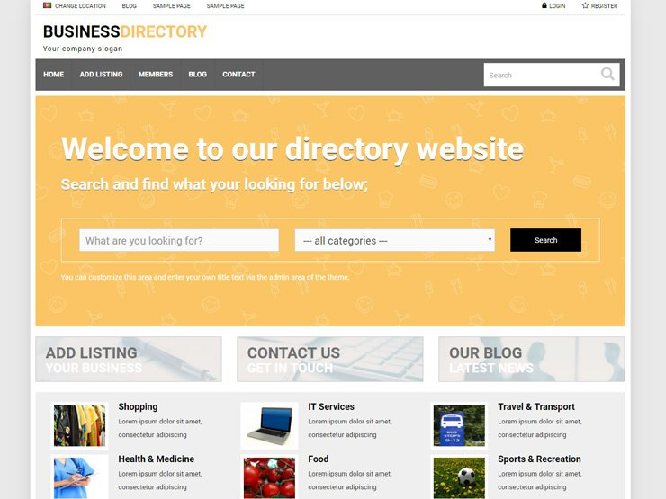 Business Directory Theme from Premium Press