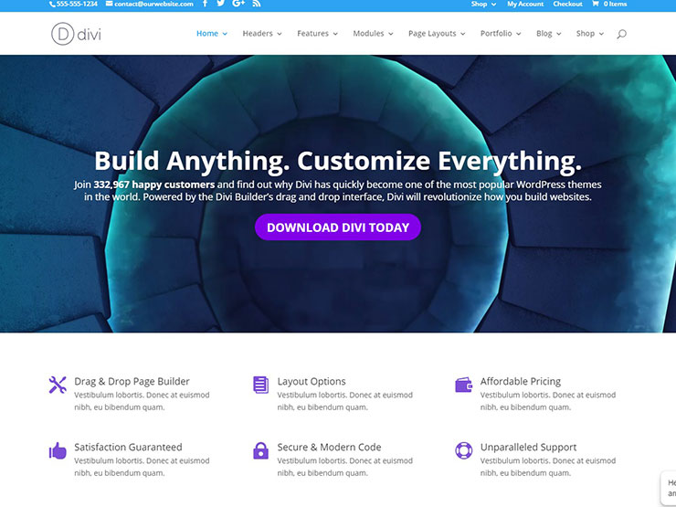 36 ecommerce wordpress themes to power online sales in 2018 - Divi theme ecommerce ...