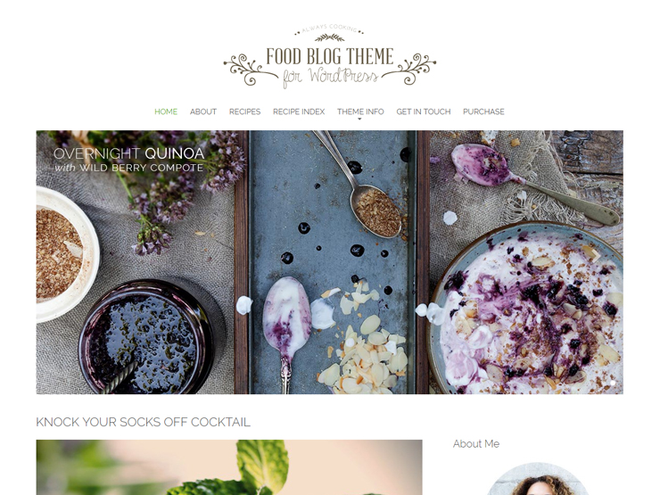 37 best wordpress food blog themes 2018 food blog forumfinder Choice Image