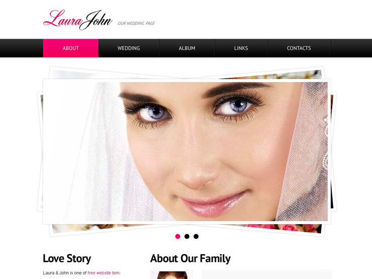 Wedding Website by Template Monster