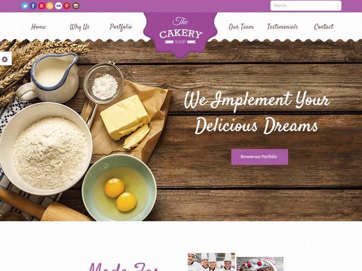 Cakery - An East to Customize Theme